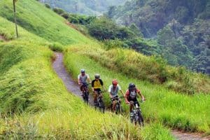 Balinese village cycling tour and sightseeing