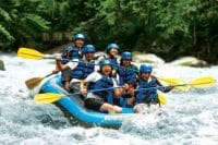 Go rafting at Ayung River in Bali, a thrilling adventure in Bali's longest river