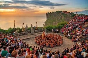 kecak dance performance - traditional balinese performance - one day tour - bali tour package